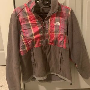 The North Face Medium Pink and Brown Zip Up Jacket